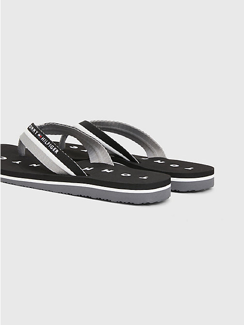 TOMMY HILFIGER Webbing Beach Sandals - BLACK - TOMMY HILFIGER Best Sellers - detail image 1