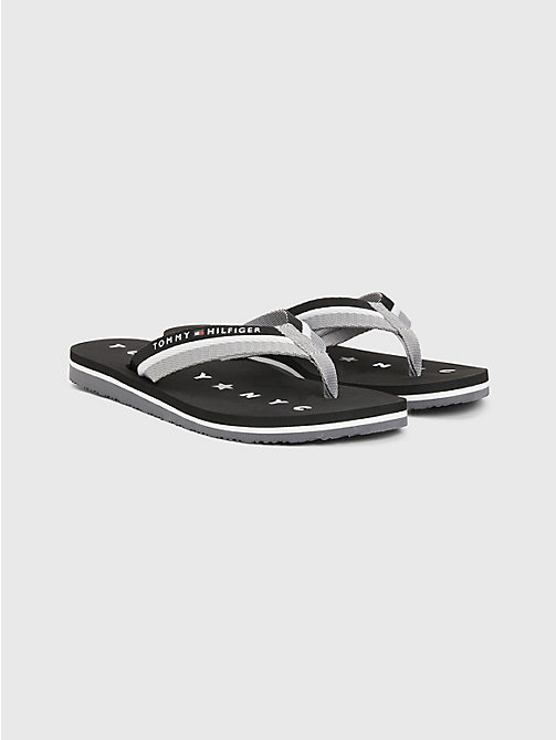 TOMMY HILFIGER Webbing Beach Sandals - BLACK - TOMMY HILFIGER Flip Flops & Sliders - main image