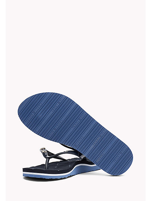 TOMMY HILFIGER Metallic Stud Flip-Flops - MIDNIGHT - TOMMY HILFIGER NEW IN - detail image 1