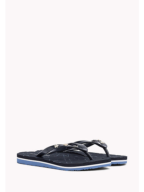 TOMMY HILFIGER Metallic Stud Flip-Flops - MIDNIGHT - TOMMY HILFIGER NEW IN - main image