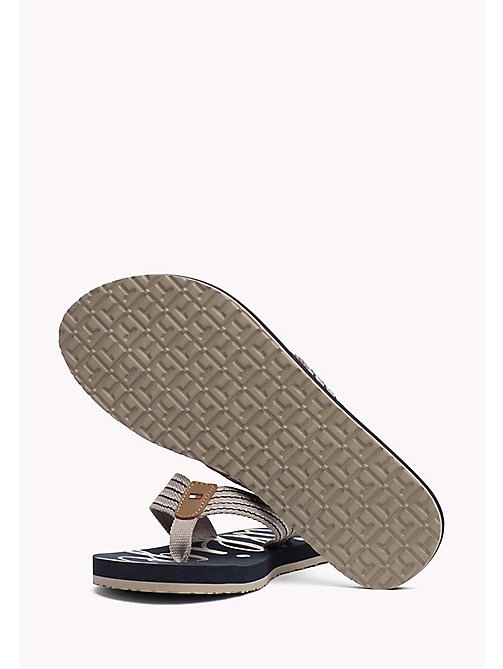 TOMMY HILFIGER Beach Sandals - COBBLESTONE - TOMMY HILFIGER Best Sellers - detail image 1
