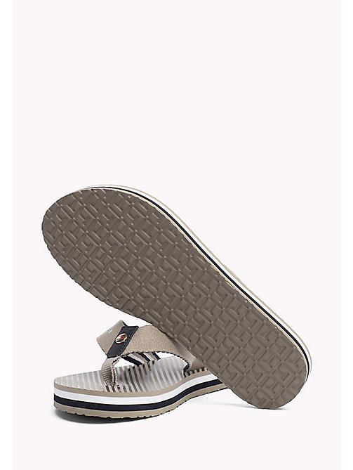 TOMMY HILFIGER Logo Beach Sandals - COBBLESTONE - TOMMY HILFIGER VACATION FOR HER - detail image 1
