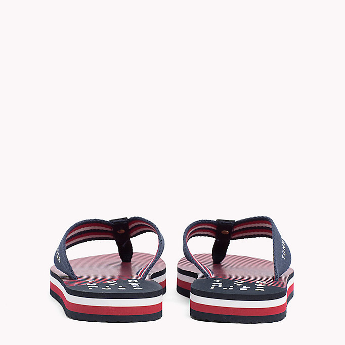 TOMMY HILFIGER Logo Beach Sandals - COBBLESTONE - TOMMY HILFIGER SHOES - detail image 2