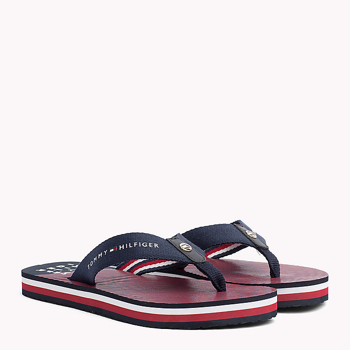 TOMMY HILFIGER Logo Beach Sandals - COBBLESTONE - TOMMY HILFIGER SHOES - main image
