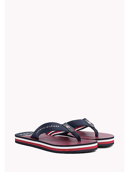 TOMMY HILFIGER Logo Beach Sandals - MIDNIGHT - TOMMY HILFIGER VACATION FOR HER - main image