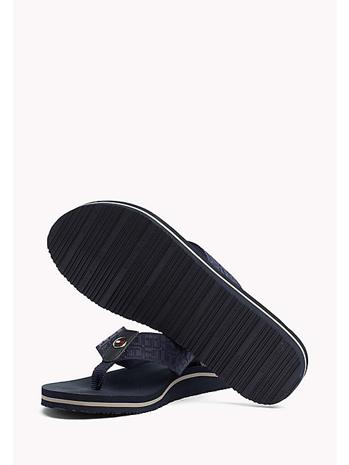 TOMMY HILFIGER Teenslipper met jacquardprint - MIDNIGHT - TOMMY HILFIGER Best Verkocht - detail image 1