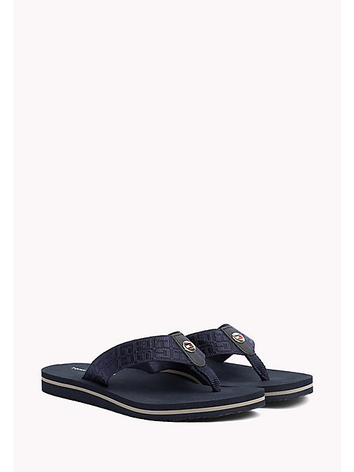 TOMMY HILFIGER Teenslipper met jacquardprint - MIDNIGHT - TOMMY HILFIGER Best Verkocht - main image