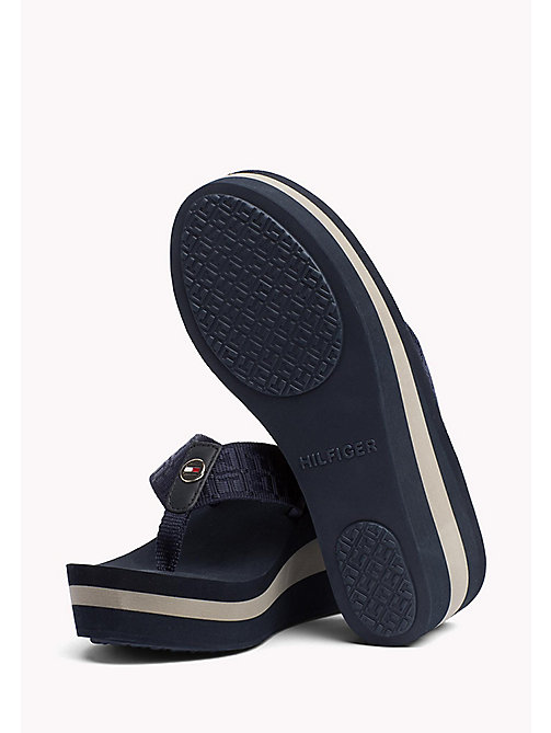 TOMMY HILFIGER Logo Strap Wedge Sandals - MIDNIGHT - TOMMY HILFIGER Flip Flops & Sliders - detail image 1