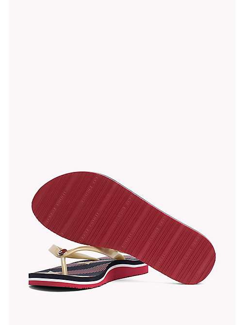TOMMY HILFIGER Pattern Flip-Flops - MIDNIGHT - TOMMY HILFIGER Shoes - detail image 1