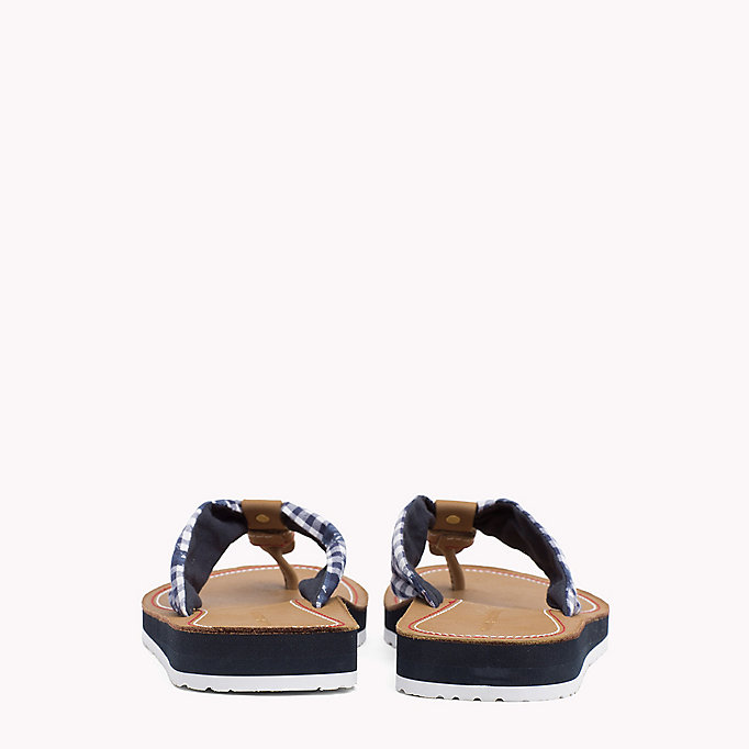 TOMMY HILFIGER Check Print Beach Sandals - TAPIOCA FLORAL CHECK - TOMMY HILFIGER SHOES - detail image 2