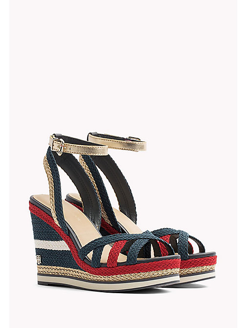 TOMMY HILFIGER Signature Tape Wedge Espadrilles - RWB - TOMMY HILFIGER VACATION FOR HER - main image