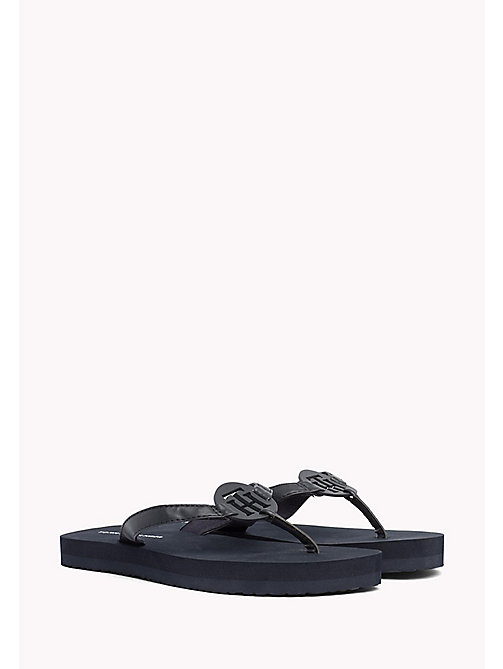 TOMMY HILFIGER Sleek Beach Sandals - MIDNIGHT - TOMMY HILFIGER VACATION FOR HER - main image
