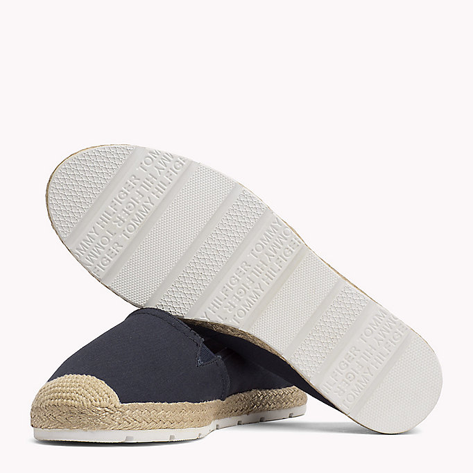 TOMMY HILFIGER Flat Cotton Espadrilles - BLACK - TOMMY HILFIGER SHOES - detail image 1