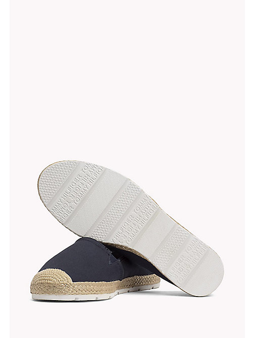 TOMMY HILFIGER Flat Cotton Espadrilles - MIDNIGHT - TOMMY HILFIGER Shoes - detail image 1