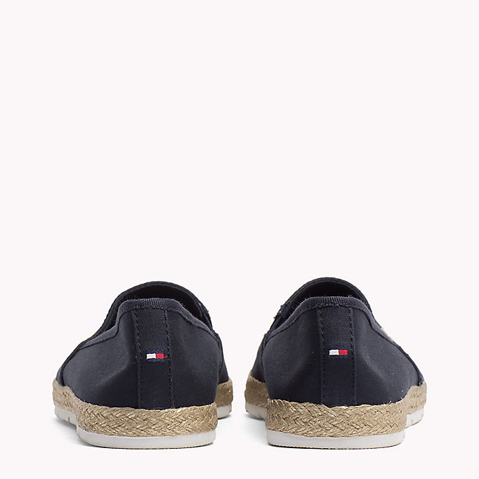 TOMMY HILFIGER Flat Cotton Espadrilles - BLACK - TOMMY HILFIGER Shoes - detail image 2