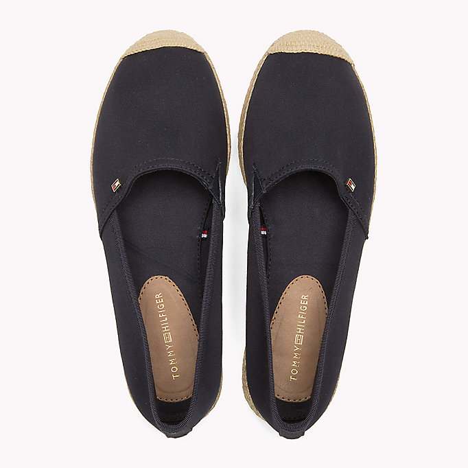 TOMMY HILFIGER Flat Cotton Espadrilles - BLACK - TOMMY HILFIGER Shoes - detail image 3