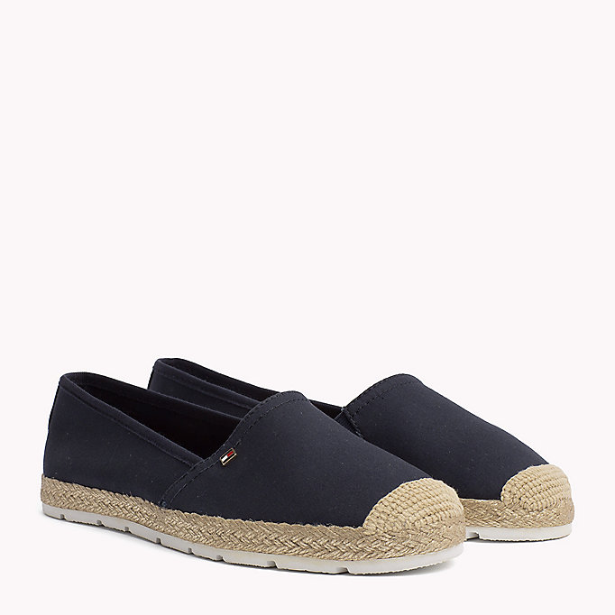 TOMMY HILFIGER Flat Cotton Espadrilles - BLACK - TOMMY HILFIGER Women - main image