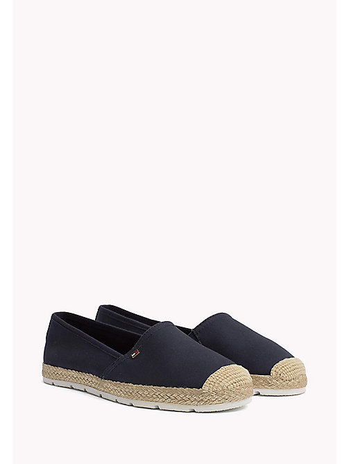 TOMMY HILFIGER Flat Cotton Espadrilles - MIDNIGHT - TOMMY HILFIGER Shoes - main image