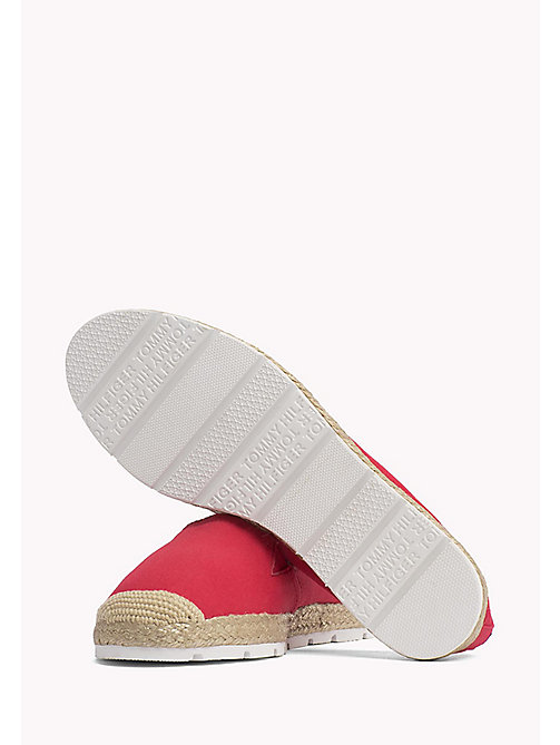 TOMMY HILFIGER Flat Cotton Espadrilles - TANGO RED - TOMMY HILFIGER VACATION FOR HER - detail image 1