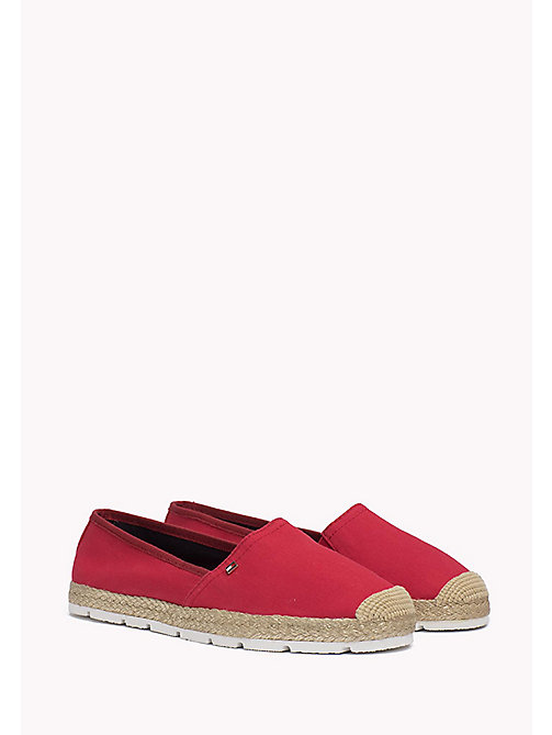 TOMMY HILFIGER Flat Cotton Espadrilles - TANGO RED - TOMMY HILFIGER Shoes - main image