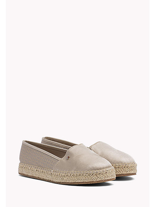 TOMMY HILFIGER Metallic Monogram Espadrilles - MEKONG - TOMMY HILFIGER VACATION FOR HER - main image