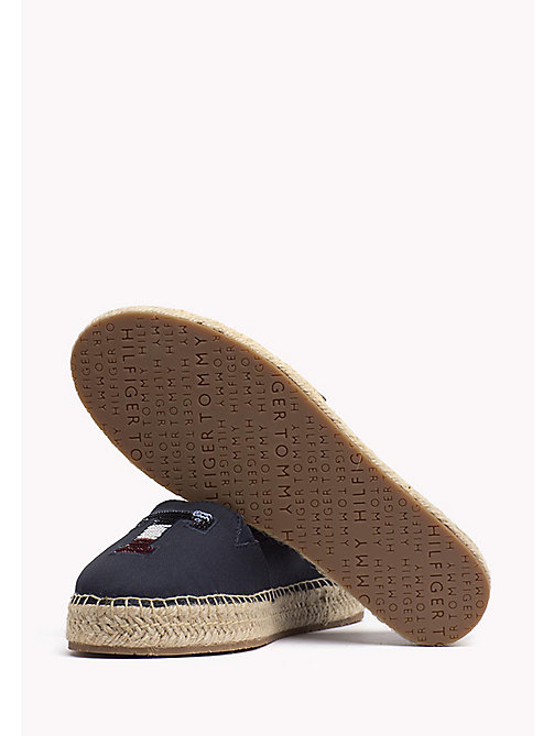 TOMMY HILFIGER Sequinned Logo Espadrilles - MIDNIGHT - TOMMY HILFIGER Shoes - detail image 1