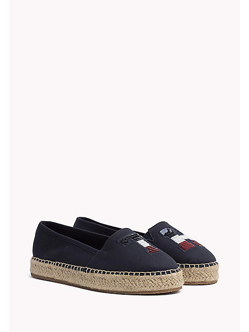 TOMMY HILFIGER Sequinned Logo Espadrilles - MIDNIGHT - TOMMY HILFIGER Shoes - main image