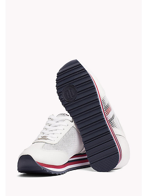 TOMMY HILFIGER Flag Mesh Trainers - WHITE - TOMMY HILFIGER NEW IN - detail image 1