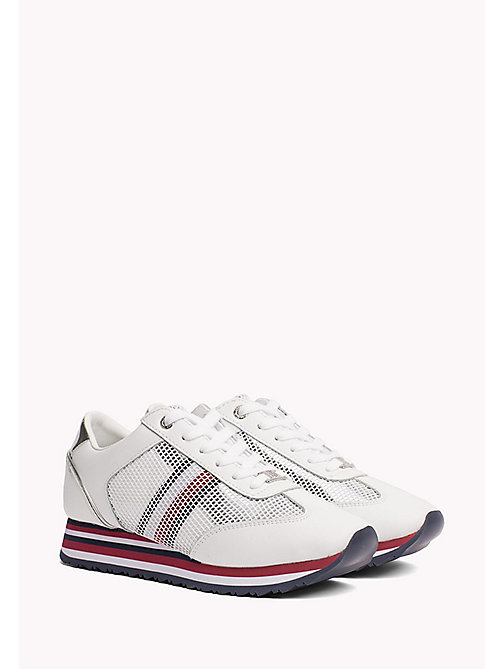 TOMMY HILFIGER Flag Mesh Trainers - WHITE - TOMMY HILFIGER NEW IN - main image