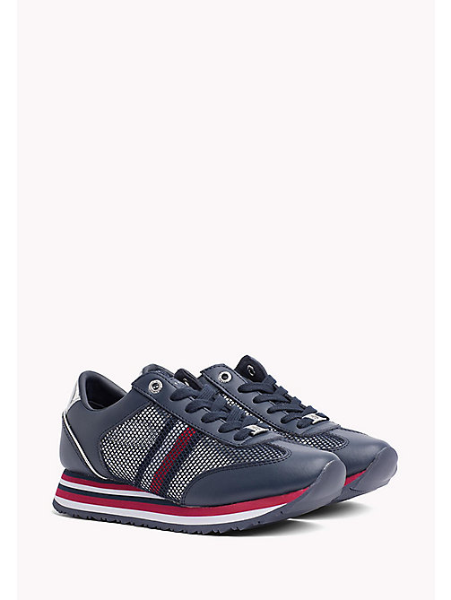 TOMMY HILFIGER Flag Mesh Trainers - TOMMY NAVY - TOMMY HILFIGER Trainers - main image