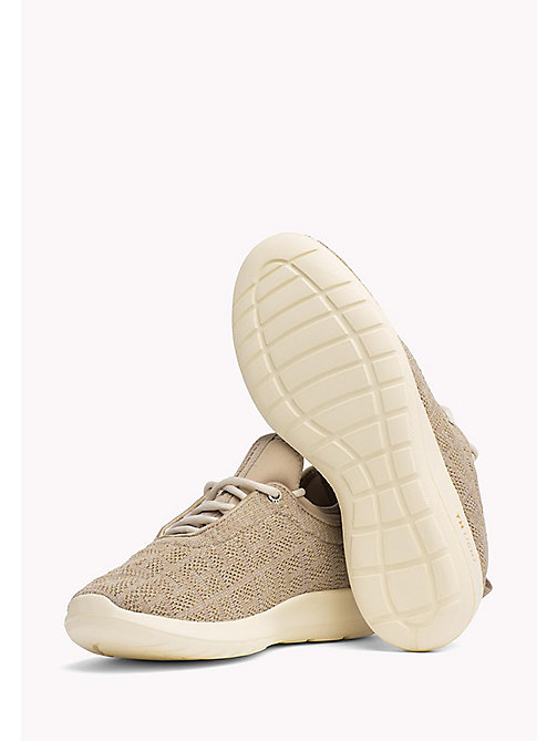 TOMMY HILFIGER Knitted Slip-On Trainers - COBBLESTONE - TOMMY HILFIGER Shoes - detail image 1