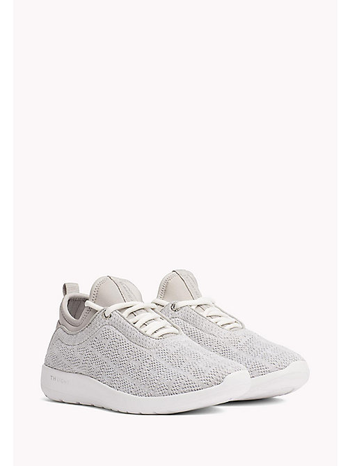 TOMMY HILFIGER Knitted Slip-On Trainers - WHITE - TOMMY HILFIGER Trainers - main image