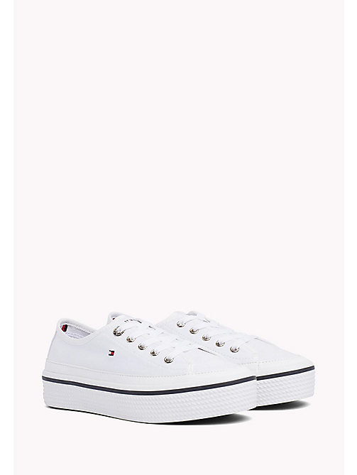 Flatform Trainers - WHITE - TOMMY HILFIGER Shoes - main image