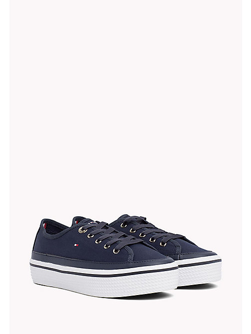 TOMMY HILFIGER Flatform Trainers - TOMMY NAVY - TOMMY HILFIGER Shoes - main image
