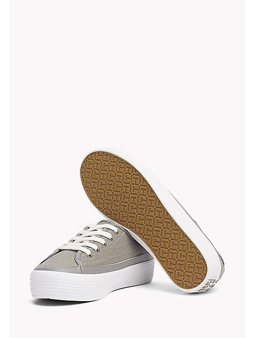 TOMMY HILFIGER Glitter Flatform Trainers - LIGHT GREY - TOMMY HILFIGER Sneakers - detail image 1