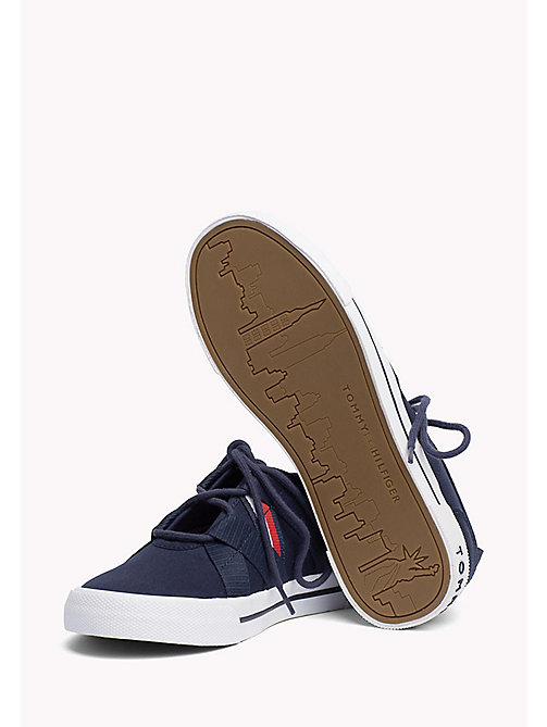 TOMMY HILFIGER Heritage Open Lace-Up Trainers - TOMMY NAVY - TOMMY HILFIGER Sustainable Evolution - detail image 1