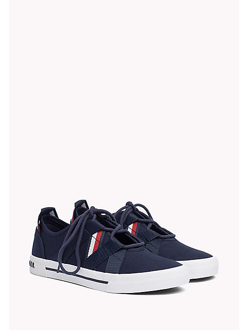 TOMMY HILFIGER Heritage Open Lace-Up Trainers - TOMMY NAVY - TOMMY HILFIGER Sustainable Evolution - main image
