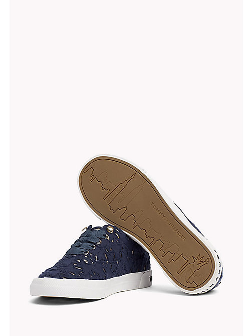 TOMMY HILFIGER Metallic Detail Trainers - TOMMY NAVY - TOMMY HILFIGER Shoes - detail image 1