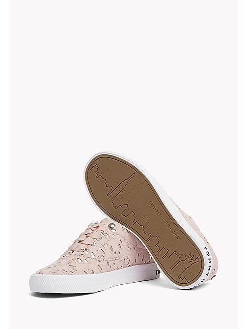 TOMMY HILFIGER Metallic Detail Trainers - DUSTY ROSE - TOMMY HILFIGER Sustainable Evolution - detail image 1