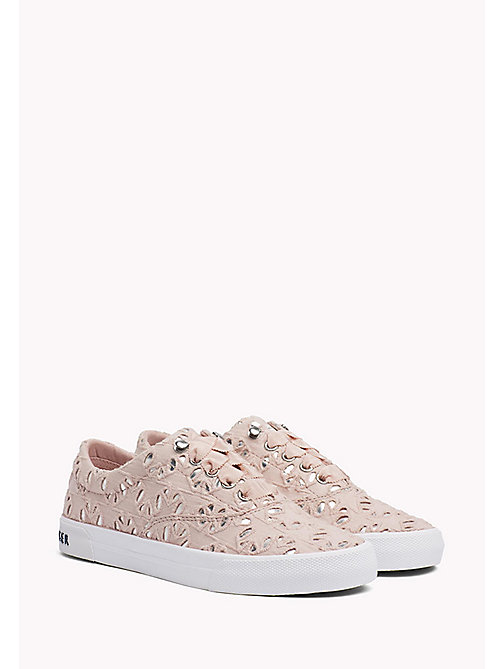 TOMMY HILFIGER Metallic Detail Trainers - DUSTY ROSE - TOMMY HILFIGER Sustainable Evolution - main image
