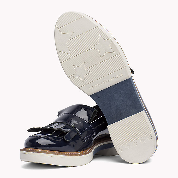 TOMMY HILFIGER Patent Penny Loafers - WHISPER WHITE - TOMMY HILFIGER SHOES - detail image 1
