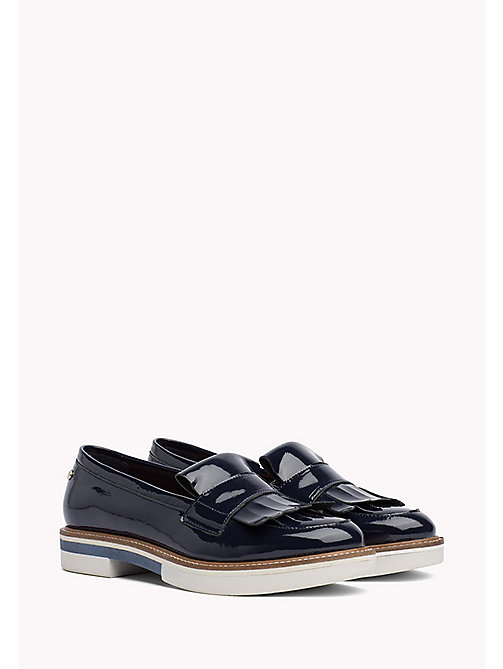 TOMMY HILFIGER Patent Penny Loafers - MIDNIGHT - TOMMY HILFIGER Moccasins & Loafers - main image