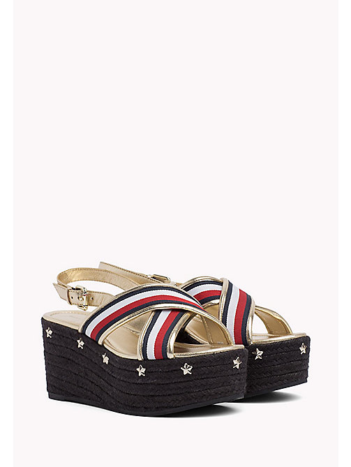 TOMMY HILFIGER Star-Studded Strappy Flatforms - RWB - TOMMY HILFIGER Shoes - main image