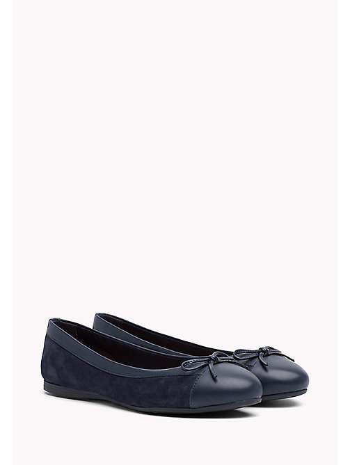 TOMMY HILFIGER Suede Ballerina Shoes - TOMMY NAVY - TOMMY HILFIGER Ballerina Shoes - main image