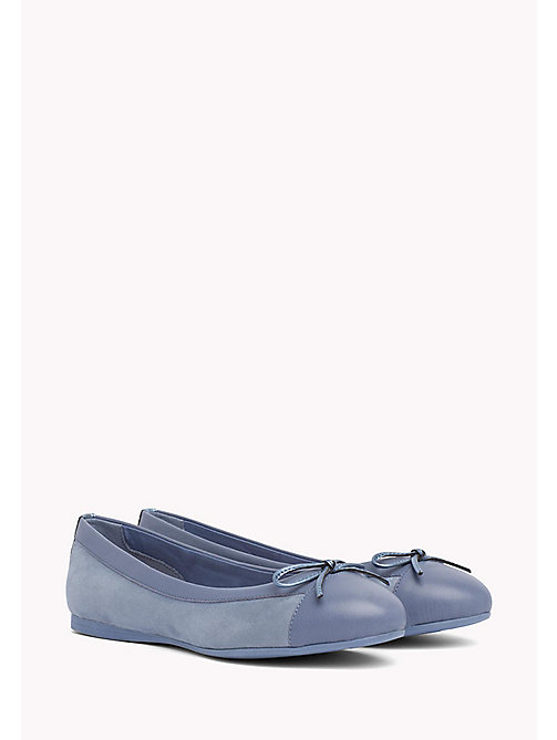 TOMMY HILFIGER Suede Ballerina Shoes - ENGLISH MANOR - TOMMY HILFIGER Ballerina Shoes - main image