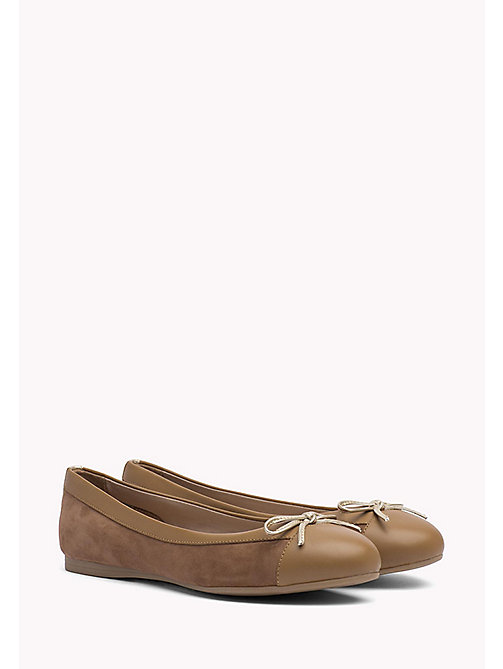 TOMMY HILFIGER Suede Ballerina Shoes - SUMMER COGNAC - TOMMY HILFIGER Ballerina Shoes - main image