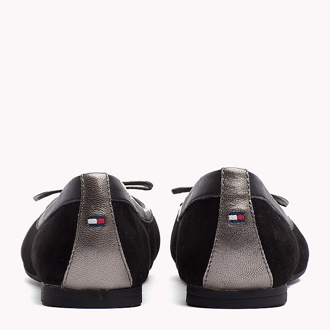 TOMMY HILFIGER Suede Ballerina Shoes - TOMMY NAVY - TOMMY HILFIGER SHOES - detail image 2