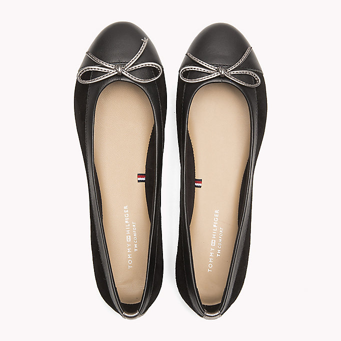 TOMMY HILFIGER Suede Ballerina Shoes - TOMMY NAVY - TOMMY HILFIGER SHOES - detail image 3