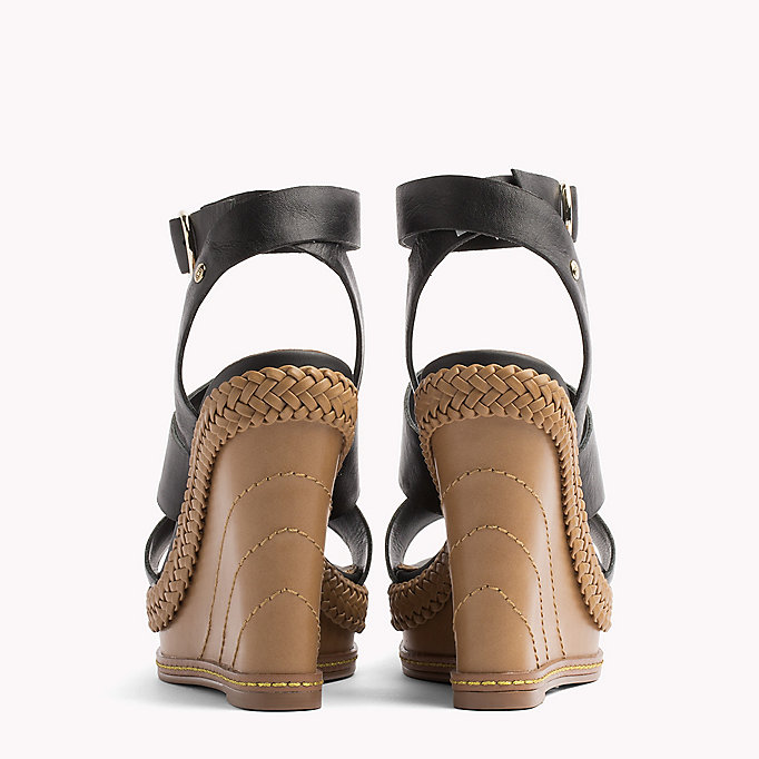 TOMMY HILFIGER Strappy Leather Wedge Sandals - SILKY NUDE - TOMMY HILFIGER Women - detail image 2