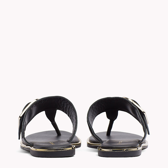 TOMMY HILFIGER Oversized Buckle Leather Sandals - SILKY NUDE - TOMMY HILFIGER SHOES - detail image 2
